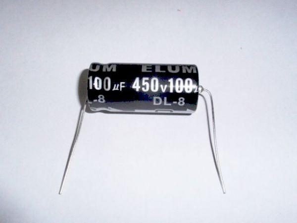 100µF/450V axial