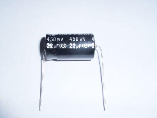 22µF/450V axial