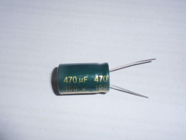 470µF/100V radial