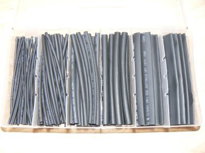 head shrink sleeve sort 100 parts black