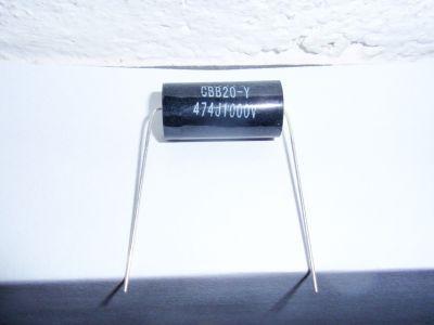 0,47µF/1000V schwarz