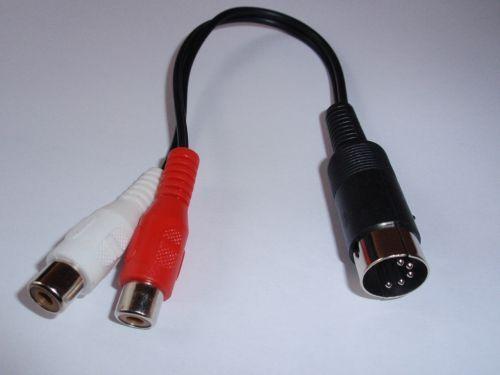 Audio Adapter für Röhrenradios 2x Chinchkupplung auf Din Stecker 5-polig