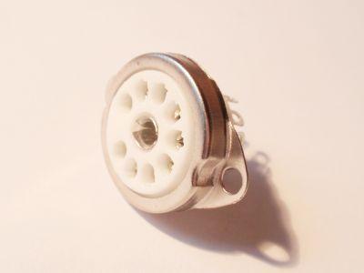 Noval keramik Röhrenfassung 9 polig für EL84 etc. neu Chassismontage