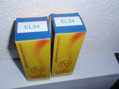 EL34 new JJ matched pair