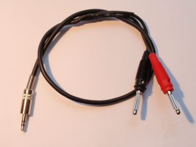 Audio Adapter für Röhrenradios Stereoklinkenstecker 3,5mm auf Bananenstecker