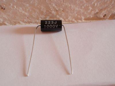 0,022µF/1000V schwarz